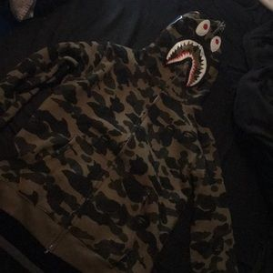 Sweaters - Bathing ape zip up hoodie (like new)